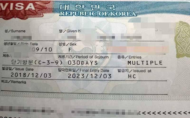 Điền mẫu đơn khai visa Hàn Quốc