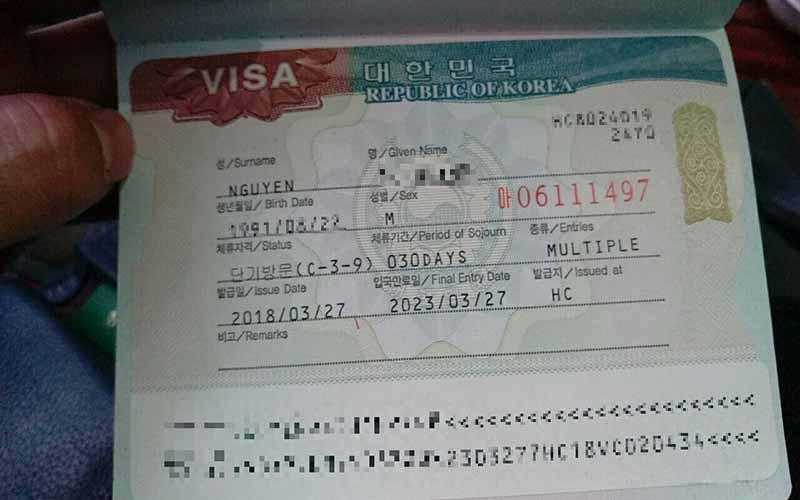 Điều kiện xin visa 5 năm Hàn Quốc