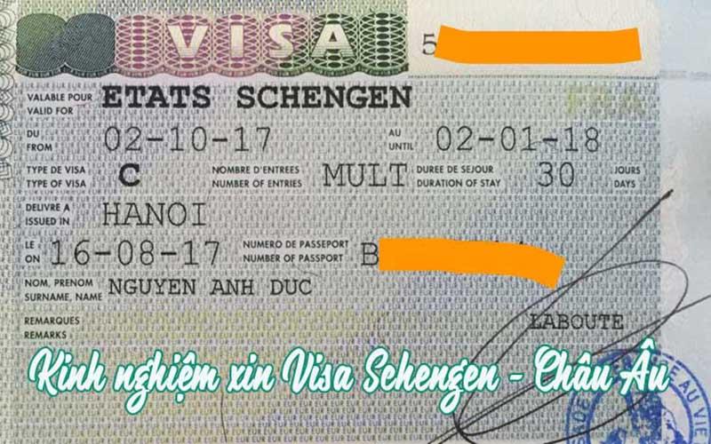 kinh nghiệm xin visa pháp tự túc