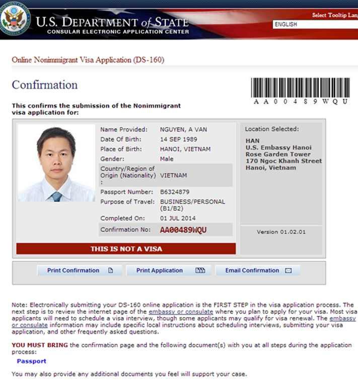 Kinh nghiệm xin visa Mỹ