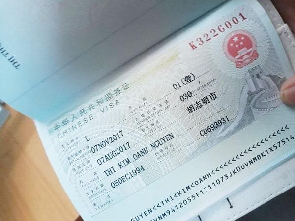 làm visa đi trung quốc
