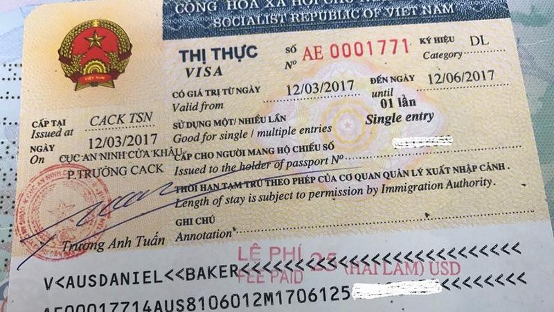 các loại visa việt nam